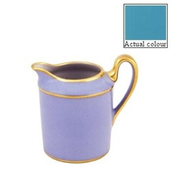 Sous le Soleil Creamer straight sided, 15cl - 6 cup, turquoise with classic matt gold band