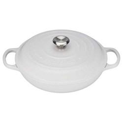 Signature Cast Iron Shallow casserole, 30 x 6cm - 3.2 litre, cotton