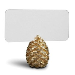 Pine Cone Set of 6 place card holders, gold