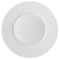 Ecume Set of 6 dinner plates, 26cm, white