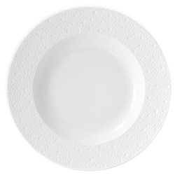 Ecume Set of 6 rim soup plates, 23cm, white