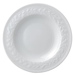 Louvre Set of 6 rim soup plates, 22cm, white