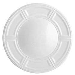 Naxos Set of 6 dinner plates, 26cm, white