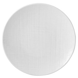 Organza Set of 6 coupe dinner plates, 26cm, white