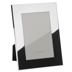 "Square Cut Photograph frame, 8 x 10"" with 30mm border, silver plate with velvet back"