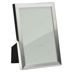 "Grooved Photograph frame, 5 x 7"", silver plate"
