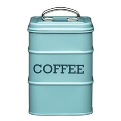 Living Nostalgia Coffee canister, 11 x 17cm, blue enamelled steel
