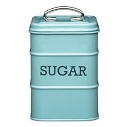 Living Nostalgia Sugar canister, 11 x 17cm, blue enamelled steel