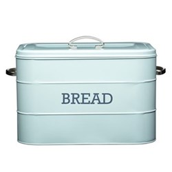 Living Nostalgia Bread bin, 34 x 21.5 x 25cm, blue enamelled steel