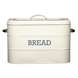 Living Nostalgia Bread bin, 34 x 21.5 x 25cm, cream enamelled steel