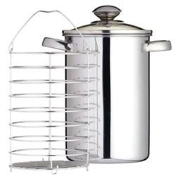 Asparagus steamer, 16cm - 3 litre, stainless steel