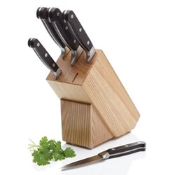 Master Class - Halo Five piece knife set with natural block