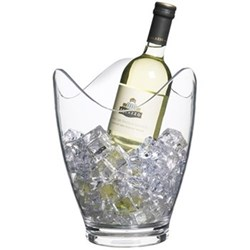 Bar Craft Wine bucket/drinks pail, clear acrylic