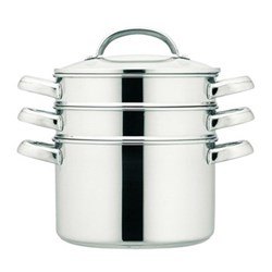 Multi-steamer, 18cm/2.8 litre, stainless steel with glass lid