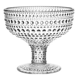 Kastehelmi Footed bowl, 35cl, clear
