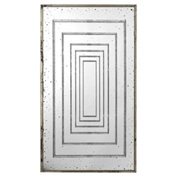 Trianon Mirror, H168 x W96cm, distressed metal frame