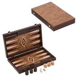 Backgammon set 60 x 47.5 x 3.75cm open