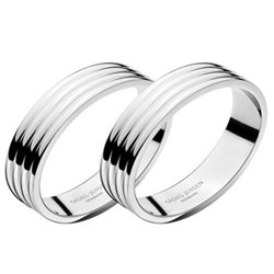 Bernadotte Pair of napkin rings, D4cm, stainless steel