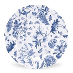 Botanic Blue Set of 4 dinner plates, 27cm