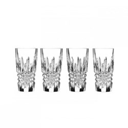 Lismore Diamond Set of 4 shot glasses, 10.5cm