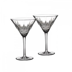 Lismore Diamond Pair of martini glasses