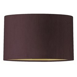 """Flat Drum Lampshade, 8"""", fig silk with gold pvc lining"""