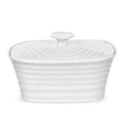 Ceramics Butter tub, 18.5 x 13cm, white