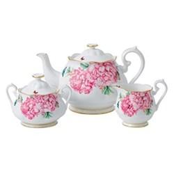 Miranda Kerr Friendship Teapot, sugar and creamer set, 1.25 litre teapot, white with pink