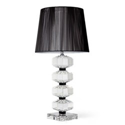 Lamp and black thread shade 18""