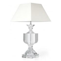 "Wilde Lamp and cream square shade, 19"""