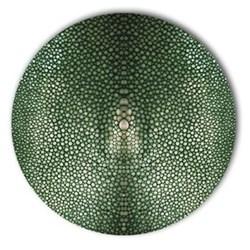 Acrylic - Shagreen Print Set of 4 round coasters, 10cm, verde
