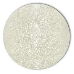 Acrylic - Shagreen Print Set of 4 round tablemats, 25cm, pistachio
