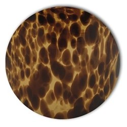 Acrylic - Tortoise Shell Set of 4 round tablemats, 25cm