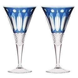 Pair of large wine glasses