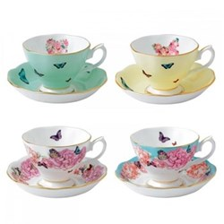 Set of 4 teacups and saucers 40cl