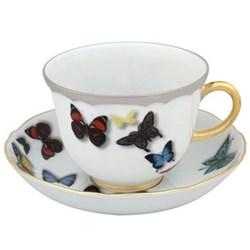Set of 4 teacups and saucers 23.6cl