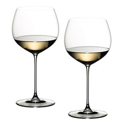 Veritas Pair of oaked chardonnay glasses, H21.7 x D10.8cm - 62cl