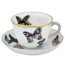 Set of 4 coffee cups and saucers 10.9cl
