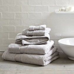 Egyptian Cotton Pearl Grey Towels