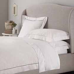 Santorini - 200 Thread Count King size duvet cover, W225 x L220cm, white