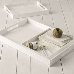 Set of 3 nesting trays 1 x L55 x W40cm - 2 x L37 x W26cm