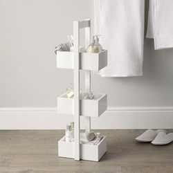 3-tier bathroom caddy, 84 x 22 x 26cm, white wood