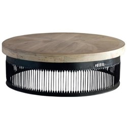 Coffee table H37 x D122cm