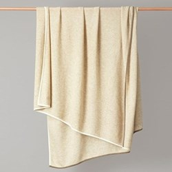 Contrast edge knitted throw 180 x 120cm