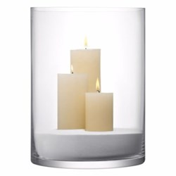 Column Vase/candleholder, 40 x 30cm, clear