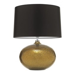 """Galileo Table lamp with 18"""" drum shade, 58.5cm with shade, Gold with premium satin mocha shade"""