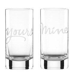 Pair of highball glasses