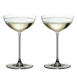 Veritas Pair of moscato/coupe glasses, H17 x D10.8cm - 24cl