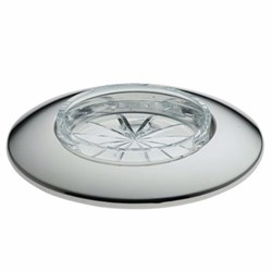 Galet Individual caviar dish, 30g, glass with silver rim
