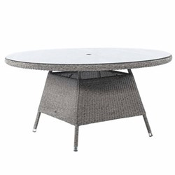 Monte Carlo Table with glass top, 150cm, mid grey